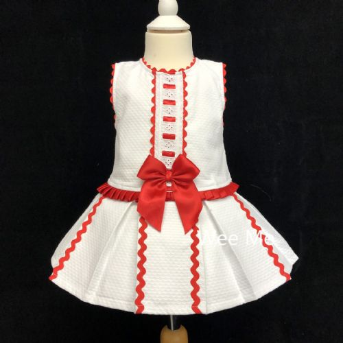*SALE* Gorgeous Wee Me Baby Girl Spanish Princess Dress Red Bow
